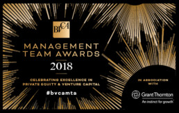 Management team award 2018 - BVCA