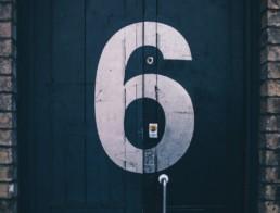 6 on a door