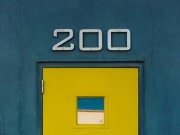 200 sign on door