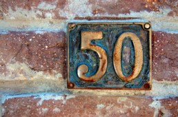 50 sign on wall