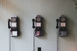 stock image of telephones for a blog
