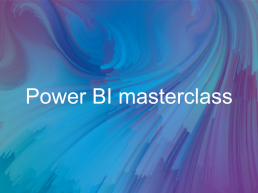 Power BI training event cover