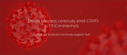Covid-19 homepage banner