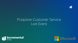 Proactive customer service live event cover