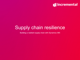 Supply chain resilience event image