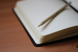 stock image of a notepad to represent notes
