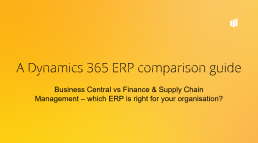 Cover of ERP comparison guide