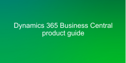 Dynamics 365 BC product guide cover image