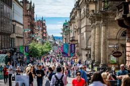 Shot of Glasgow shopping - Buchanan Street